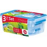 Набор контейнеров EMSA Clip & Close, 3 шт.