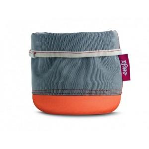 Кашпо EMSA Soft Bag серо-оранжевый, 15 см